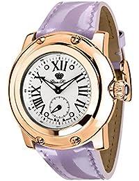 Glam Rock Miami Damen-Armbanduhr 46mm Armband Leder Fliederfarben Schweizer Quarz Analog GR10062N