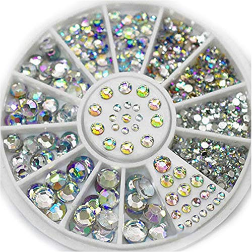 Nail Stones Crystal AB Colors Mixed Size Acrylic Design Nails Art Decoration Multicolor