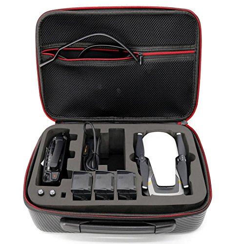 Storage Bag, Prevently New creative PU impermeabile e a prova di borsa per quadricottero DJI Mavic Air + 3batteria + controllo borsetta, Nero
