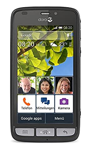 Doro Liberto 820 3G Smartphone (11,4 cm (4,5 Zoll) Touchscreen, 8 Megapixel Kamera, 1 GB RAM, GPS, Bluetooth 4.0, WiFi, Android 4.4) mit Experience Benutzeroberfläche
