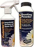 Single Room Bed Bug Killer Treatment Spray and Powder Kit (Professional Products now available for Amateur Use)