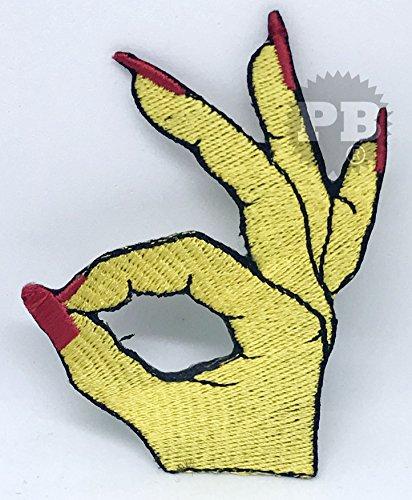 # 1288feministas parche para bordado parches dedo hierro/sew en bordado parche