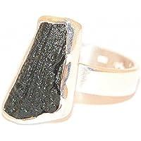 Moldavit Ring - Rohschnitt - poliert Sterlingsilber - moldr16a10 preisvergleich bei billige-tabletten.eu