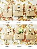 Lot de 4 cartes de remerciement avec fleur - Cartes de remerciement vierges pour mariage, baby shower, enterrement de vie de jeune fille, anniversaire de mariage - Vierge à l'intérieur...