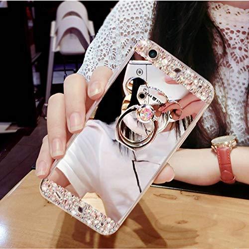 MYPPHD Handy-Fälle Kristall Telefon case Diamant Abdeckung für iPhone 6 7 8 6 s Plus Strass Spiegel für iPhone XS xr xsmax (Iphone 6-kristall-diamant-kasten)