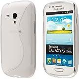 Funda para Samsung Galaxy S3 mini de gel TPU carcasa S-Line Color semi- transparente