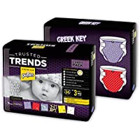 Pufies Trusted Trends Greek Key - 68 Pañales, talla 3, 4-9 kg