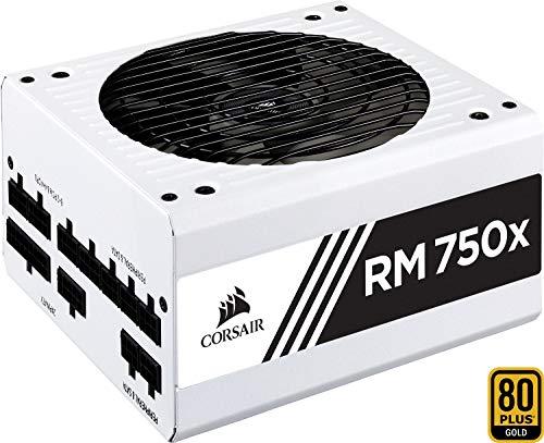 Corsair RM750x Alimentatore PC, Completamente Modulare, 80 Plus Gold, 750 Watt, EU, Serie RMX, Bianco