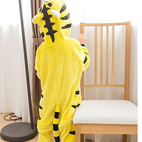 Imagen de abyed kigurumi pijamas unisexo adulto traje disfraz adulto animal pyjamas,tigre amarillo chidren tamaño 125 para altura 138 148cm alternativa