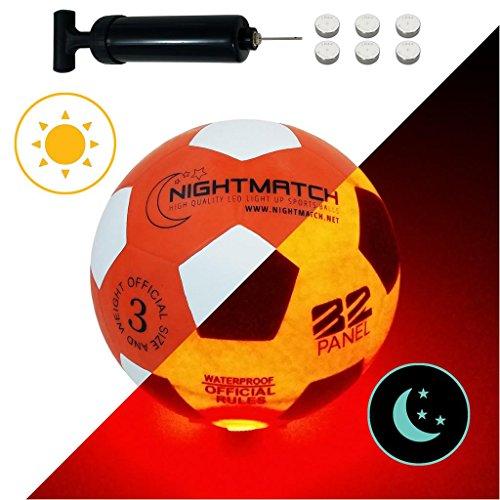 NIGHTMATCH Balón Fútbol Ilumina Incl. Bomba balón