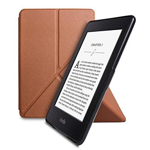 Taslar Origami Series Flip Cover Case for Amazon Kindle Paperwhite (Brown)