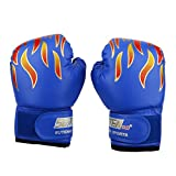 Alomejor Kind Boxen Fighting Handschuhe, 3Farben PU Muay Thai Sparring Stanz Kickboxen Grappling Sandsack Training Handschuhe, Blau