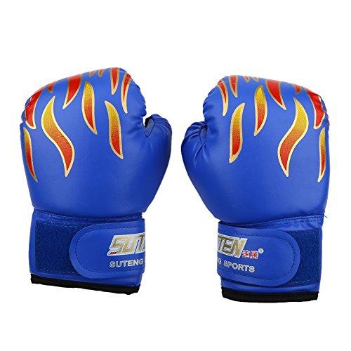 Guanti del pugilato per bambini 3-12 anni guanti di addestramento allenamento boxe guantoni boxing gloves pugilati ( colore : blu )