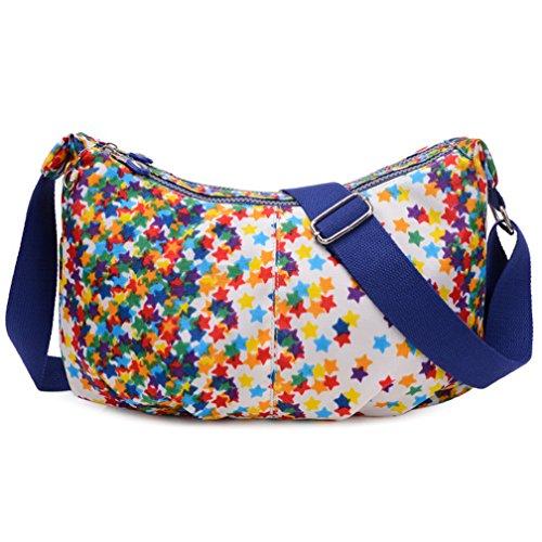 TianHengYi ,  Damen Umhängetaschen , Mehrfarbig - Stars - Größe: Medium (Black Junior Tote Handtaschen)