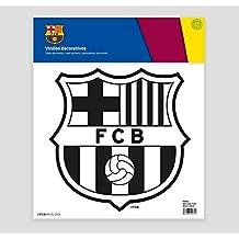 FC Barcelona Escudo Adhesivo, Vinilo, Negro, 30.00x30.00x32.00 cm