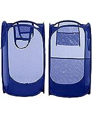 Blumfye Set of 2 Polyester Big Size Mesh/Net Laundry Basket, Multicolour