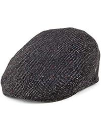 City Sports Hats Herringbone Virgin English Wool Flat Cap - Grey a02b4161ee1f