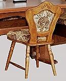 Einzelstuhl Eiche rustikal P43 gebeizt - Esszimmerstuhl Küchenstuhl Eiche rustikal gebeizt - 2738