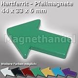 5 Pfeil Magnete - Pinnwandmagnete Pfeile Ferrit - grün