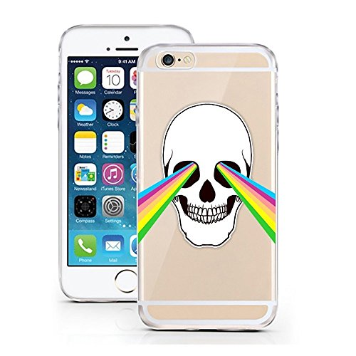 Blitz® PUSHER 2 motifs housse de protection transparent TPE iPhone Ballerine rose rouge M3 iPhone 5 crâne Rainbowlaser M11