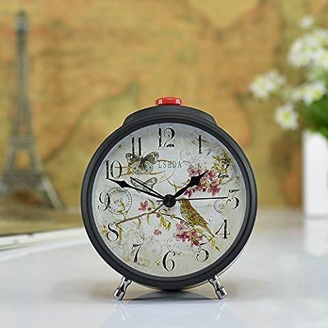MSRRY Creative allarme retrò camera da letto classico anello antichi allarme allarme elegante Germania auto d'epoca orologio desktop - Quarzo Contemporaneo Anello