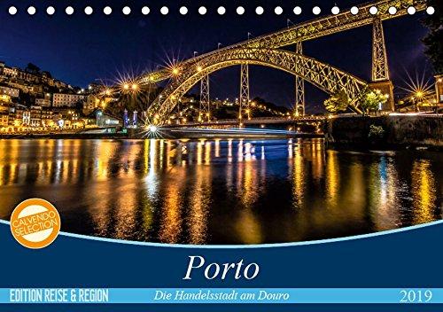 Porto - Die Handelsstadt am Douro (Tischkalender 2019 DIN A5 quer): Farbenfrohe, leuchtende Ansichten der Weltkulturerbe-Stadt Porto. (Monatskalender, 14 Seiten ) (CALVENDO Orte)