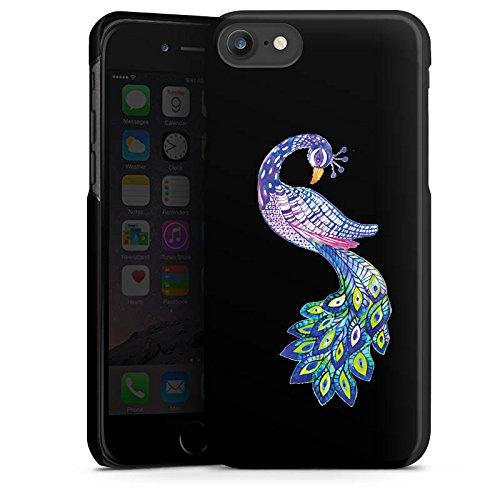 Apple iPhone 7 Silikon Hülle Case Schutzhülle Pfau ohne Hintergrund Feder Hard Case schwarz