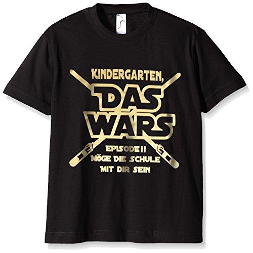Coole-Fun-T-Shirts Jungen T-Shirt Kindergarten Das Wars, (Herstellergröße: 140), -