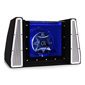 auna caisson de basses voiture subwoofer 25cm led 800w high tech. Black Bedroom Furniture Sets. Home Design Ideas