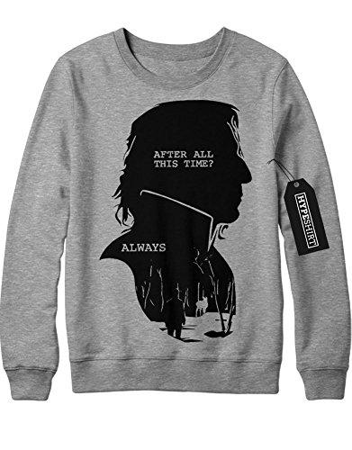 Sweatshirt Harry Potter Severus Snape Alter All This Time? Always C999938 Grau (Kostüm Snape Severus)