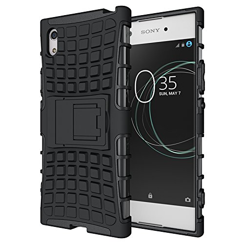 Case Collection Stylish Heavy Duty Shock Proof Armour Dual Protection Cover with Built-in Kickstand Case For Sony Xperia XA1