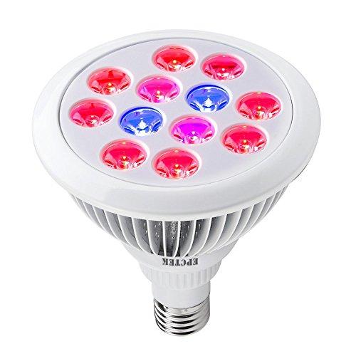 EPCTEK Pflanzenleuchte 24 Watt Rot&Blau LED-Pflanzenlampe Pflanzen Wachstumslampe Pflanzenlicht Wuchslampen Innengarten Pflanze wachsen Licht Hängeleuchte