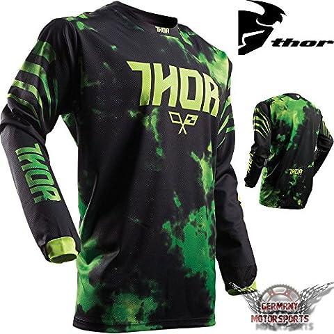 Motocross T-shirt Maillot en jersey Noir Vert Enfant Thor Pulse tydy Offroad Quad