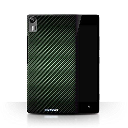 Stuff4® Hülle/Hülle für Lenovo Vibe Shot/Z90 / Grün Muster/Kohlenstoff-Faser-Muster Kollektion