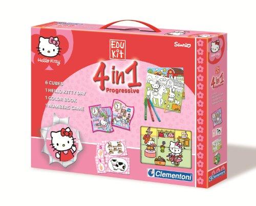 Clementoni EduKit 4in1Hello Kitty (Domino-spiel Kit)