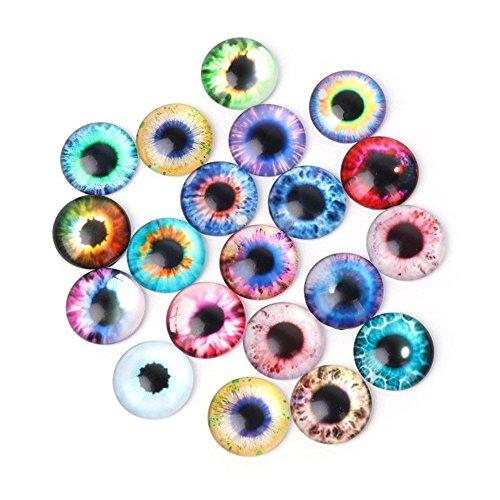 CAIDUD Mode Puppe Zubehör Runde Augen Aufkleber Selbstklebend Scrapbooking Paste Random Farbe Niedlich