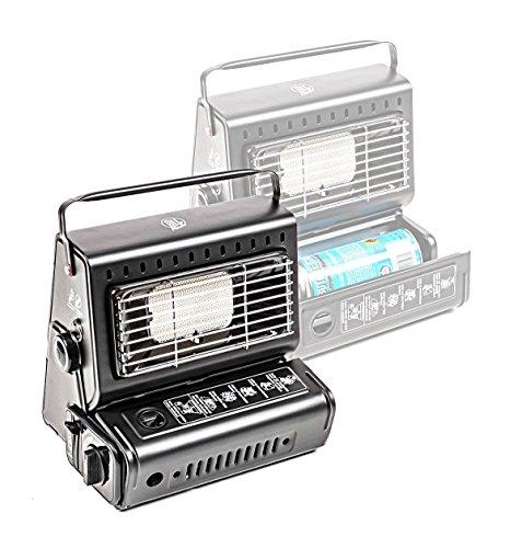 Preisvergleich Produktbild Gasheizung mobil mit Piezo-Zündung, Outdoor, Keramik-Heizplatte, Leistung 1,3 kw