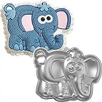 Preisvergleich für Bringt 1Stück, Elefant Form mit Design Gravur Antihaftbeschichtung Teflon Backform Metall Pfanne Form für Haus und Küche. Größe: 28206cm. Farbe Dunkelgrau,