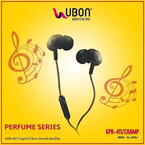 Ubon Perfume Series GPR-411 Champ Earphones (Black)