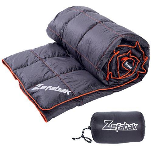ZEFABAK Daunendecke, Camping-Zubehör, für den Innen- und Außenbereich, Modell Puffy