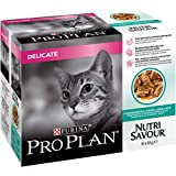 PRO PLAN Nutrisavour Delicate Cat Food Ocean Fish 4x10x85g (40 Pouches)