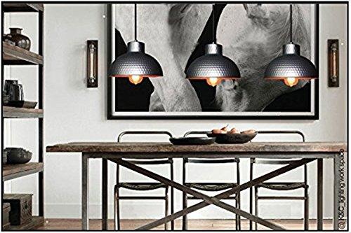 BAYCHEER Modern Hängelampe LED Lampe Aluminium Lampenschirm ø 26cm Retro Fabriklampe - 6