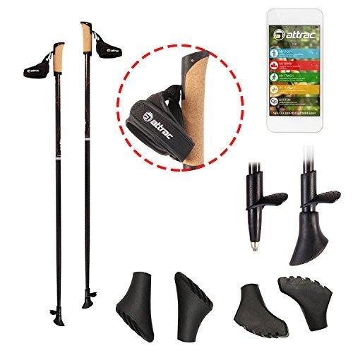 Carbon Ultra Light Walking Stock mit Handgelenkschlaufe verschiedene Längen Superleicht Premium GRATIS - Nordic Walking/Fitness App (115 cm)