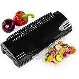 Andrew James High Quality Black Vacuum Food Sealer Bag Packing Machine