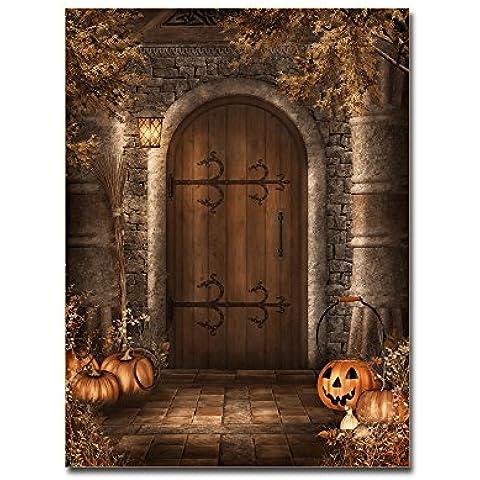 lotuslife stampata su tela dipinti Serie e zucca di Halloween castello Artwork per decorazione casa, Tela, Unframed(30x40Inch)