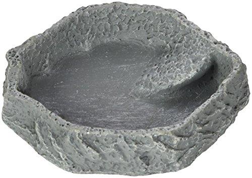JBL ReptilBar 71071 Futter Trink und Badenapf für Terrarientiere, S, grau