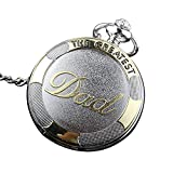 Abeillo Hombre de estilo antiguo Reloj de bolsillo Collar Colgante Cuarzo Regalo del padre