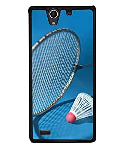 PrintVisa Designer Back Case Cover for Sony Xperia C4 Dual (bedminton racket with cork shadow)