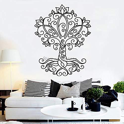 Ajcwhml Einfache Stil Leben Baum Vinyl Wandtattoo natürliche dekorative Wandaufkleber Wandbild abnehmbare hochwertige Aufkleber Kunst 56 cm x 71 cm