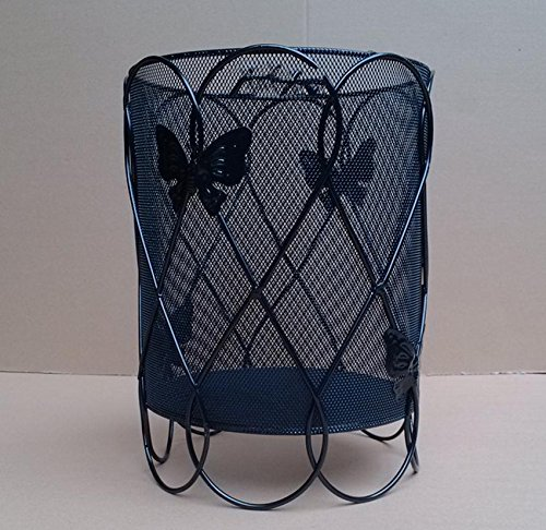 GHFDSJHSD High-Grade Iron Hollow Butterfly Section Abfall Paper Basket Fashion Creative Home Round Lagerung Barrels 22 * 22 * 31 cm